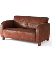 bpc living Sofa James 2-Sitzer, Sofa 2-Sitzer in braun von bonprix