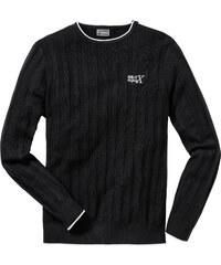 RAINBOW Pullover Slim Fit langarm in schwarz für Herren von bonprix