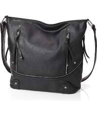 bpc bonprix collection Shopper mit Reißverschluss in schwarz für Damen von bonprix
