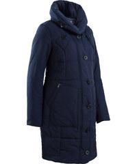 bpc bonprix collection Umstandsmantel in Steppoptik, weitenregulierbar langarm in blau für Damen von bonprix