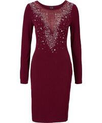 BODYFLIRT boutique Abendkleid mit Glitzersteinchen in rot von bonprix