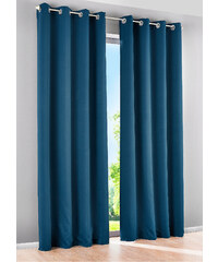 bpc living Vorhang Verdunkelung, (1er-Pack), Ösen in blau von bonprix