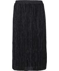 RAINBOW Glänzender Midi-Rock in schwarz für Damen von bonprix