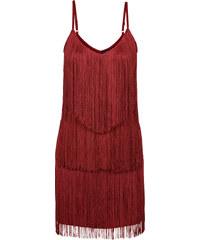 BODYFLIRT Kleid mit Fransen ohne Ärmel in rot von bonprix