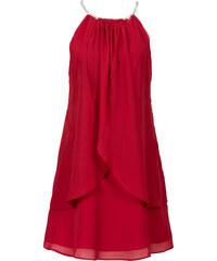 BODYFLIRT Chiffonkleid mit Collier ohne Ärmel in rot von bonprix