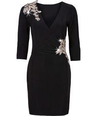 BODYFLIRT Kleid mit Wickeloptik 3/4 Arm in schwarz von bonprix