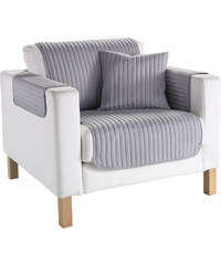 bpc living Sofaüberwurf Streifen in grau von bonprix