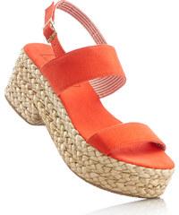 bpc bonprix collection Sandale mit 7 cm Plateau in orange von bonprix