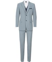 bpc selection Anzug (5-tlg.) Regular Fit langarm in silber für Herren von bonprix