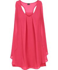 BODYFLIRT boutique Top mit Volant in pink für Damen von bonprix