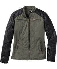 RAINBOW Lederimitat-Jacke Regular Fit langarm in grün für Herren von bonprix