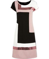 BODYFLIRT Kleid/Sommerkleid kurzer Arm in schwarz (Rundhals) von bonprix