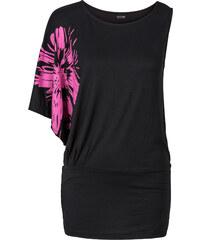 BODYFLIRT One-Shoulder-Shirt in schwarz für Damen von bonprix
