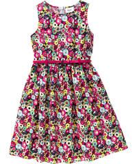 bpc bonprix collection geblümtes Kleid mit Gürtel, Gr. 116-170 ohne Ärmel in pink von bonprix