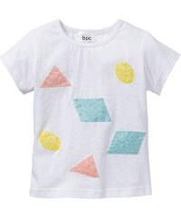 bpc bonprix collection T-Shirt mit Pailletten, Gr. 80/86-128/134 kurzer Arm in weiß für Mädchen von bonprix