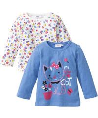 bpc bonprix collection Baby Langarmshirt (2er-Pack) Bio-Baumwolle, Gr. 56/62-104/110 in blau für Damen von bonprix