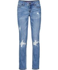 RAINBOW verkürzte Slim Jeans in blau für Damen von bonprix