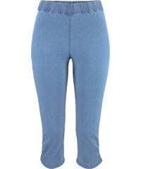 John Baner JEANSWEAR Capri-Jeansleggings mit Raffung, Normal in blau für Damen von bonprix