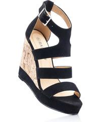 RAINBOW Sandalette mit 12 cm Keilabsatz in schwarz von bonprix