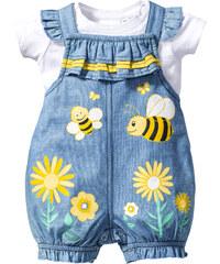 bpc bonprix collection Baby T-Shirt + Jeanslatzhose (2-tlg.), Gr. 56-110 in weiß für Damen von bonprix