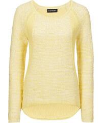 BODYFLIRT Pullover langarm in gelb (Rundhals) für Damen von bonprix