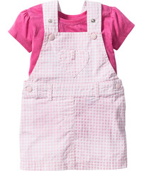 bpc bonprix collection Baby Latzkleid + T-Shirt (2-tlg.), Gr. 68/74-104/110 in pink für Damen von bonprix