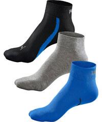Puma Kurzsocken (3er-Pack) in blau von bonprix