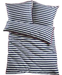 bpc living Bettwäsche Maritim Streifen, Linon in blau von bonprix