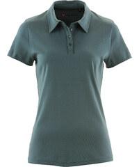 bpc bonprix collection Basic Baumwollshirt Rib-Jersey kurzer Arm in grün für Damen von bonprix