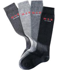 H.I.S Kniestrümpfe (4er-Pack) in schwarz von bonprix