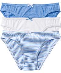 bpc bonprix collection Slip (3er-Pack), Gr. 128/134-176/182 in blau für Mädchen von bonprix
