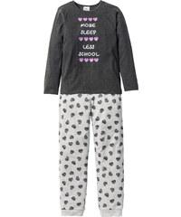 bpc bonprix collection Pyjama (2-tlg. Set), Gr. 128/134-176/182 in grau für Mädchen von bonprix