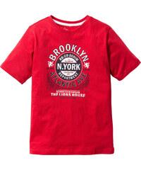 bpc bonprix collection Shirt mit Druck, Gr. 116/122-164/170 kurzer Arm in rot für Jungen von bonprix