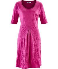bpc bonprix collection Crinkle-Kleid/Sommerkleid halber Arm in pink von bonprix