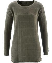 bpc selection Pullover langarm in grün (Rundhals) für Damen von bonprix