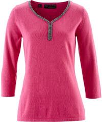 bpc selection premium Pullover aus Pima Cotton 3/4 Arm in pink für Damen von bonprix