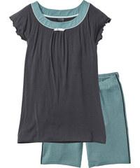 bpc selection Shorty mit langer Shorts kurzer Arm in grün für Damen von bonprix