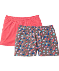 bpc bonprix collection Shorts (2er-Pack) Bio-Baumwolle in pink für Damen von bonprix