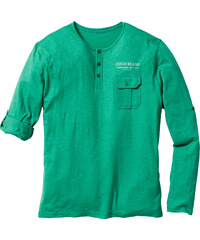 John Baner JEANSWEAR Langarmshirt mit Turnup Regular Fit in grün für Herren von bonprix