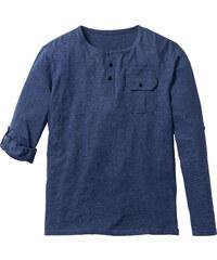 John Baner JEANSWEAR Langarmshirt mit Turnup Regular Fit in blau für Herren von bonprix