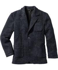 bpc selection Strick-Sakko m. Wolle Regular Fit langarm in blau für Herren von bonprix