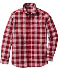John Baner JEANSWEAR Langarmhemd Regular Fit in rot von bonprix
