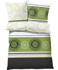 bpc living Bettwäsche Kreise, Linon in grün von bonprix