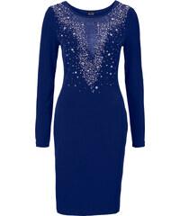 BODYFLIRT boutique Abendkleid mit Glitzersteinchen in blau von bonprix