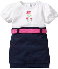 bpc bonprix collection Baby Kleid Bio-Baumwolle, Gr. 56/62-104/110 kurzer Arm in weiß von bonprix