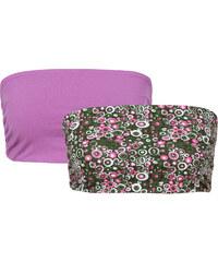 RAINBOW Bandeaux-Tops (2er-Pack) ohne Ärmel in lila für Damen von bonprix