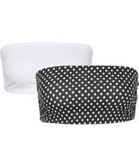 RAINBOW Bandeaux-Tops (2er-Pack) ohne Ärmel in weiß für Damen von bonprix