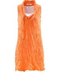 bpc bonprix collection Tunika-Top mit Crash-Effekt (2-tlg.) ohne Ärmel in orange für Damen von bonprix