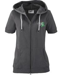 bpc bonprix collection Sweatjacke mit kurzen Ärmeln kurzer Arm in schwarz für Damen von bonprix