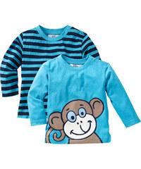 bpc bonprix collection Baby Langarmshirt (2er-Pack) Bio-Baumwolle in blau für Herren von bonprix